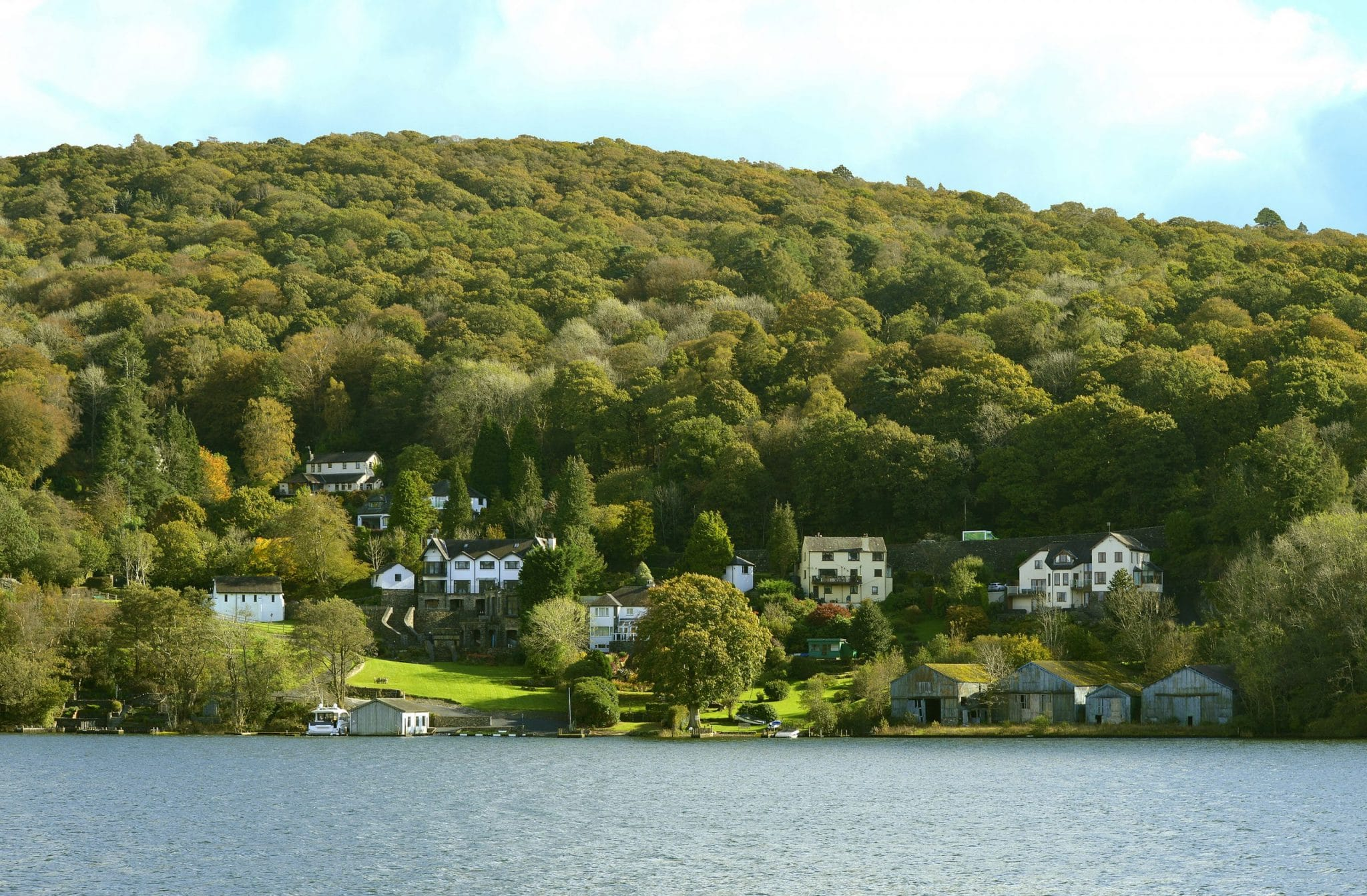 Lake Windermere, Cumbria, England, Uk - October 12, 2019 : Lakes